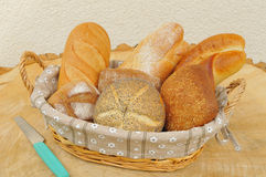 Assorted bread rolls Stock Images