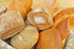Assorted bread rolls Stock Photos