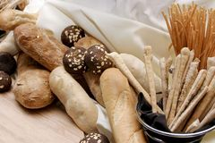 Assorted Breads Stock Image