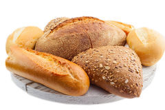 Assorted breads  Stock Photo