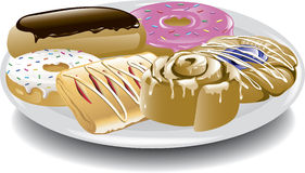 Assorted Breakfast Sweets Stock Images