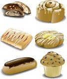 Assorted breakfast sweets Stock Photo