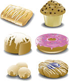 Assorted breakfast sweets Stock Photos
