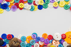 Assorted Buttons Background with copyspace Royalty Free Stock Images