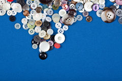 Assorted buttons stock photo