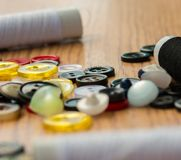 Assorted Buttons Represents Mixed Various And Fasten Royalty Free Stock Photography