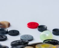 Assorted Buttons Shows Various Sew And Dressmaking Royalty Free Stock Image