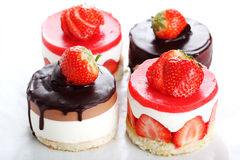 Assorted cakes with strawberriy Stock Photography