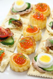 Assorted canape Royalty Free Stock Images