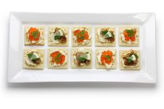 Assorted canape Stock Photo