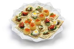 Assorted canape Stock Images