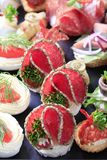 Assorted canapes Stock Image