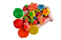 Assorted candies Stock Photos
