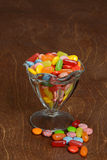 Assorted candies in glass bowl Royalty Free Stock Photo