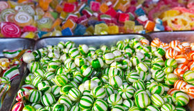 Assorted candy colorful Bonbon in a Christmas market Stock Photography