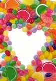 Assorted Candy Framed Heart Stock Image