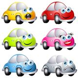 Assorted Cartoon Bug Style Cars royalty free illustration
