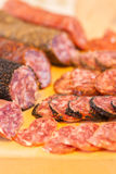 Assorted catalan spanish salami Royalty Free Stock Photos
