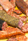 Assorted catalan spanish salami Royalty Free Stock Images