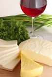 Assorted cheese Royalty Free Stock Photos