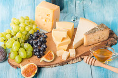 Assorted cheese Stock Photography