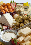 Assorted Cheese Plate Stock Photo