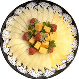 Assorted cheese platter. Assorted cheese deli platter for holiday Stock Photos