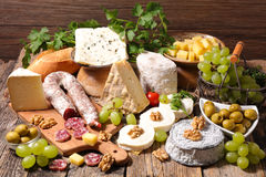 Assorted cheese Royalty Free Stock Images