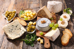 Assorted cheese Stock Photos