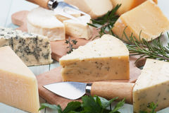 Assorted cheese Stock Photo