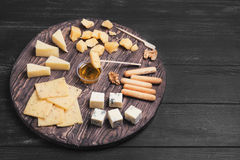 Assorted cheeses food photo Stock Image