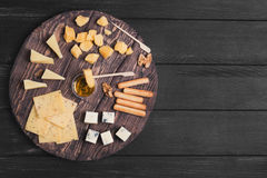 Assorted cheeses food photo Stock Photography