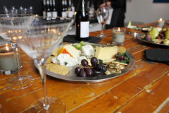 Assorted cheeses and snacks Stock Photography