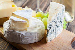 Assorted cheeses Royalty Free Stock Images