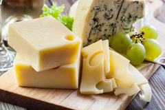 Assorted cheeses Royalty Free Stock Image