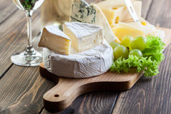 Assorted cheeses Stock Image