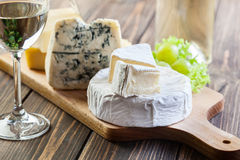 Assorted cheeses Royalty Free Stock Photo