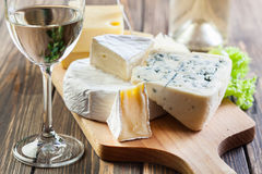 Assorted cheeses Royalty Free Stock Photography