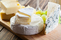 Assorted cheeses Stock Photo