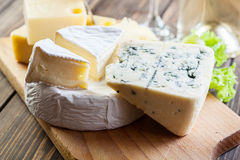 Assorted cheeses Stock Photography