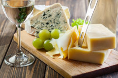 Assorted cheeses Stock Images