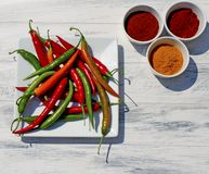 Assorted Chillies and Spices Royalty Free Stock Photography
