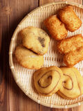 Assorted chinese dough fritters Stock Photo
