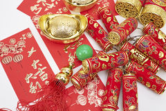 Assorted chinese new year decorations Royalty Free Stock Images