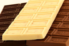 Assorted chocolate bars Royalty Free Stock Photos
