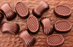 Assorted chocolate candies Stock Images