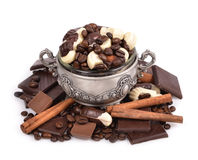 Assorted chocolate candies Royalty Free Stock Image