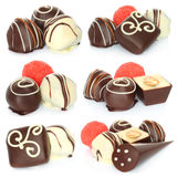Assorted chocolate candies set Royalty Free Stock Image