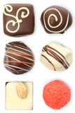 Assorted chocolate candies set Stock Photography