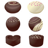 Assorted chocolate candies,vector Stock Images